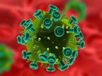 HIV (rendered image)